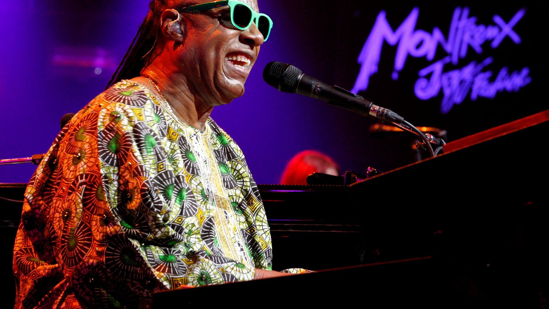 July 16, 2014. Stevie Wonder performs during the Montreux Jazz Festival in Montreux.