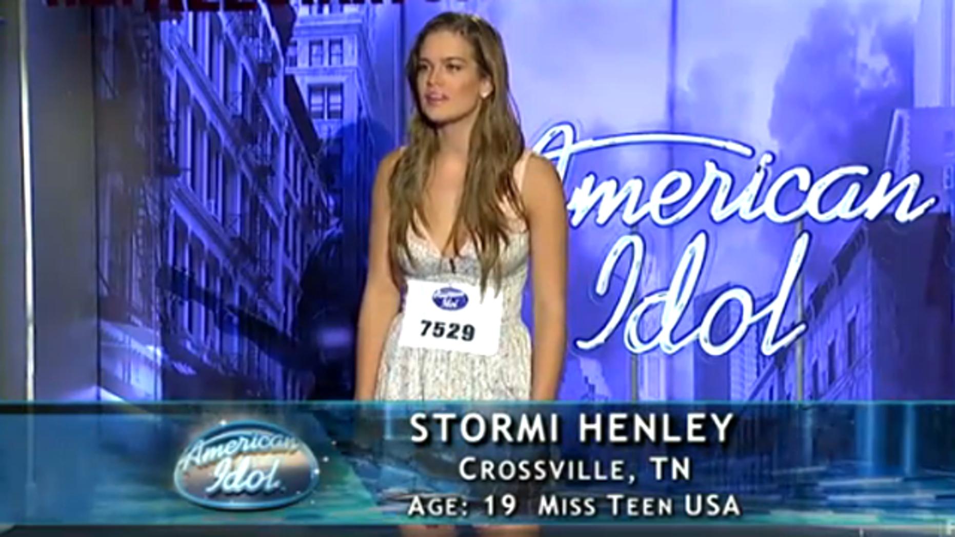 Beauty queen Stormi Henley on 'American Idol.' (Fox)