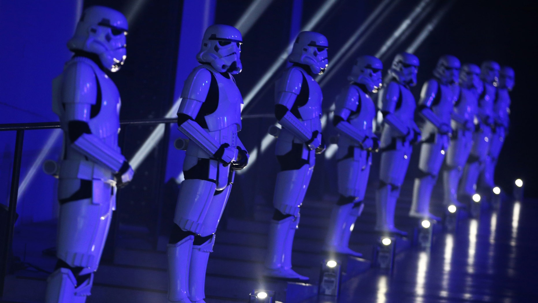 File photo: Actors in Storm Trooper costumes take part in the European Premiere of Star Wars Rogue One at the Tate Modern in London, Britain December 13, 2016. (REUTERS/Neil Hall)