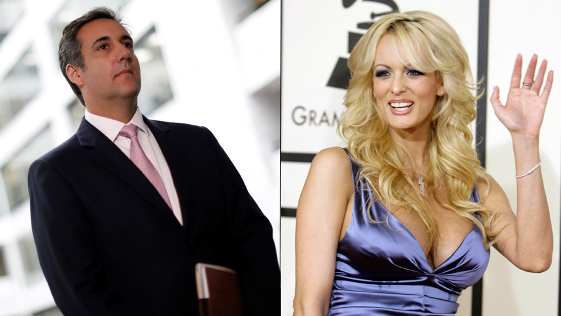 Michael Cohen and adult film star Stormy Daniels