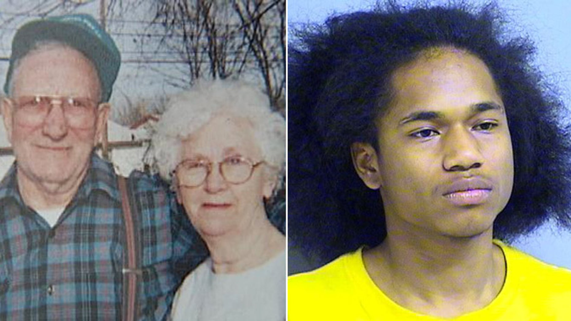 Bob and Nancy Strait, left, have died after an alleged home invasion by Tyrone  Woodfork, right.
