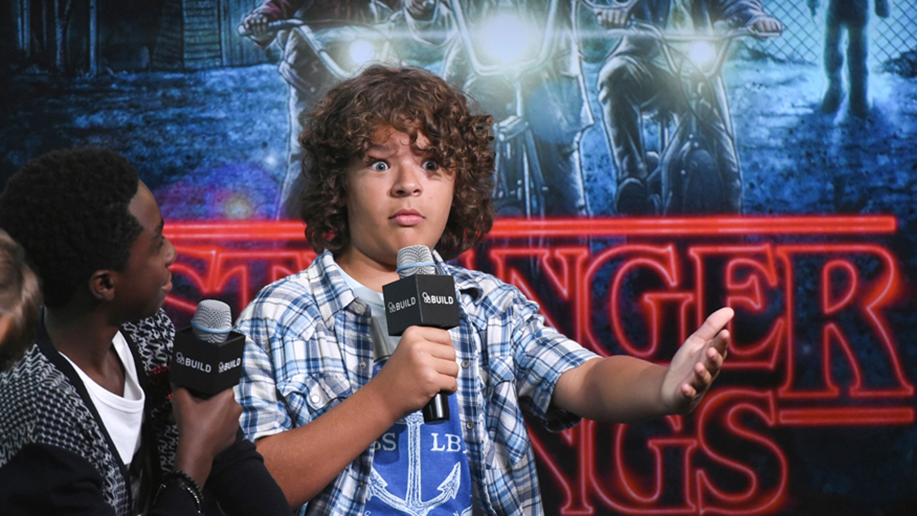 """In this Aug. 31, 2016, file photo, actor Gaten Matarazzo participates in the BUILD Speaker Series to discuss the Netflix series, """"Stranger Things"""", at AOL Studios in New York."""
