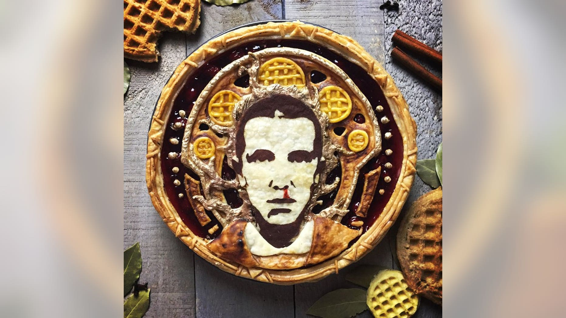 "Pie maker Jessica Clark-Bojin is wowing her fans on social media with incredibly detailed ""Celebrity Pietraits,"" like this ""Stranger Things""-themed pie featuring beloved character Eleven."