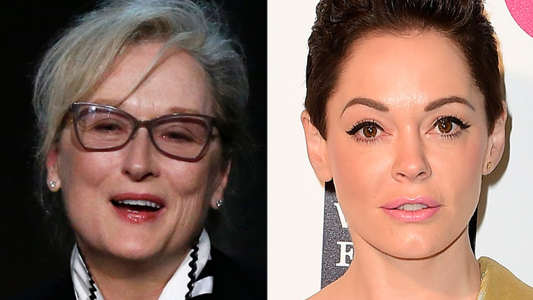 Meryl Streep and Rose McGowan.