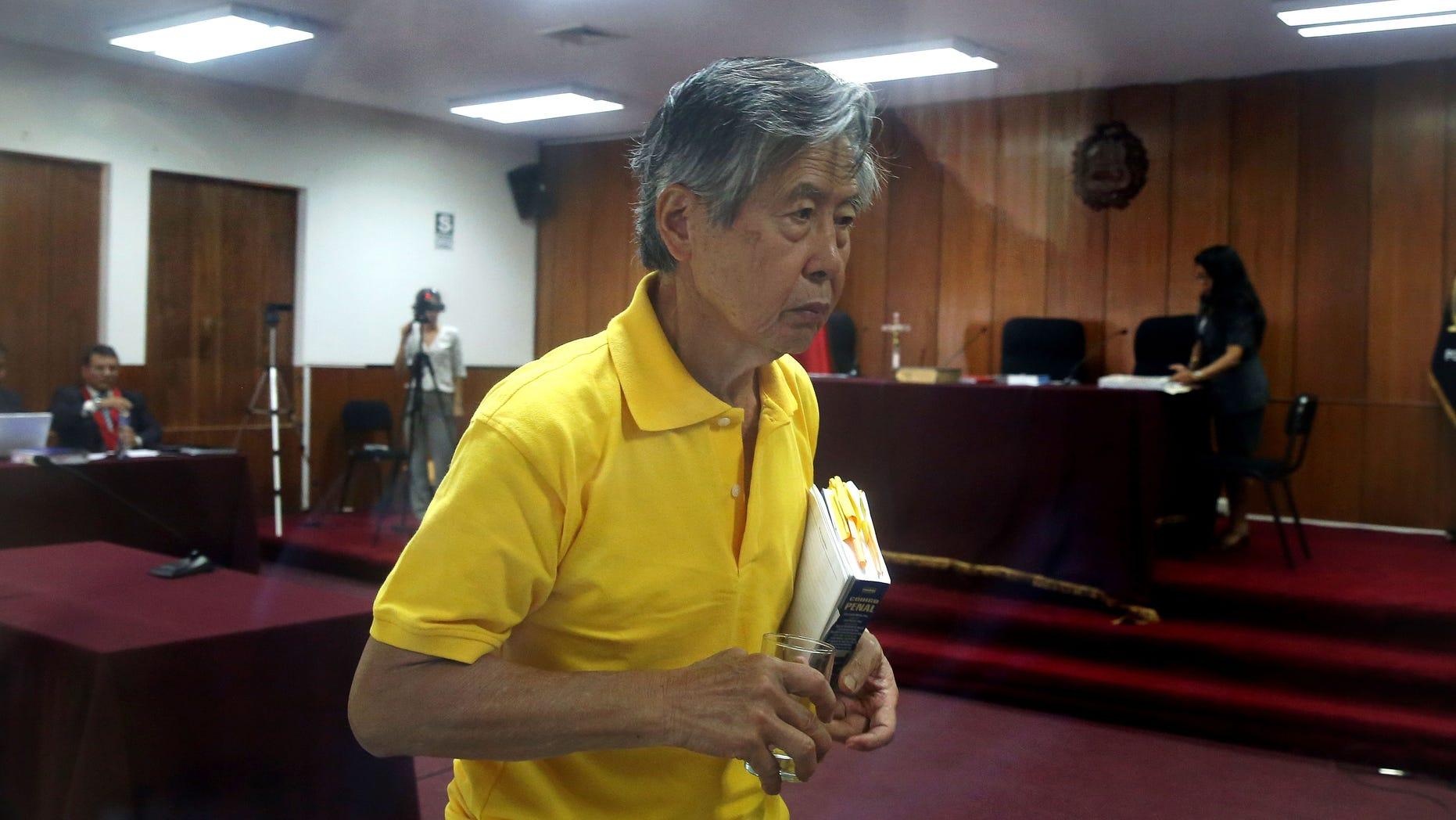 Jailed former President Alberto Fujimori on Thursday, March 13, 2014.