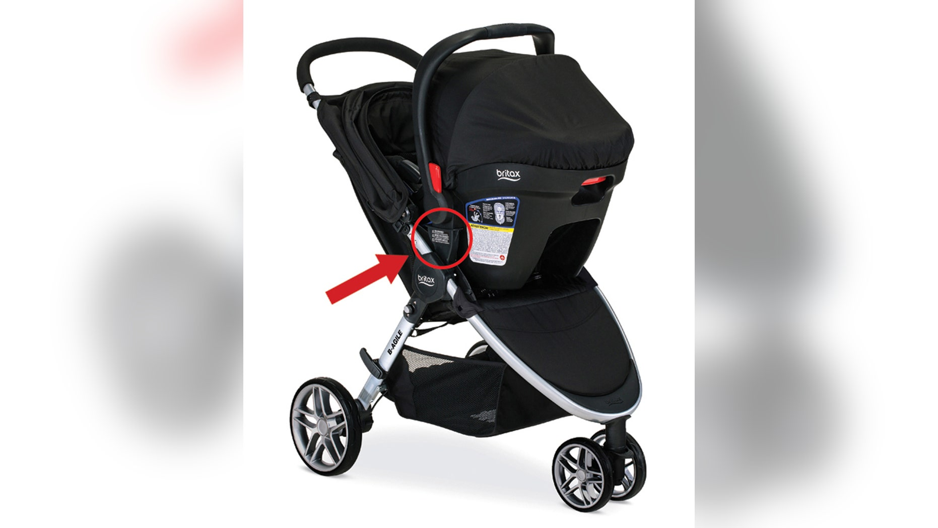 This image provided by the Consumer Product Safety Commission (CPSC) shows a Britax Stroller.