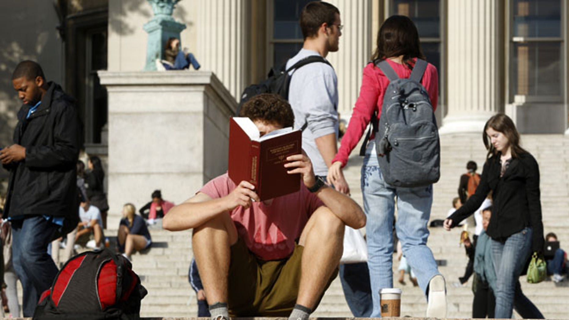 FILE: Oct. 2009: A student on the campus of Columbia University in New York, N.Y.