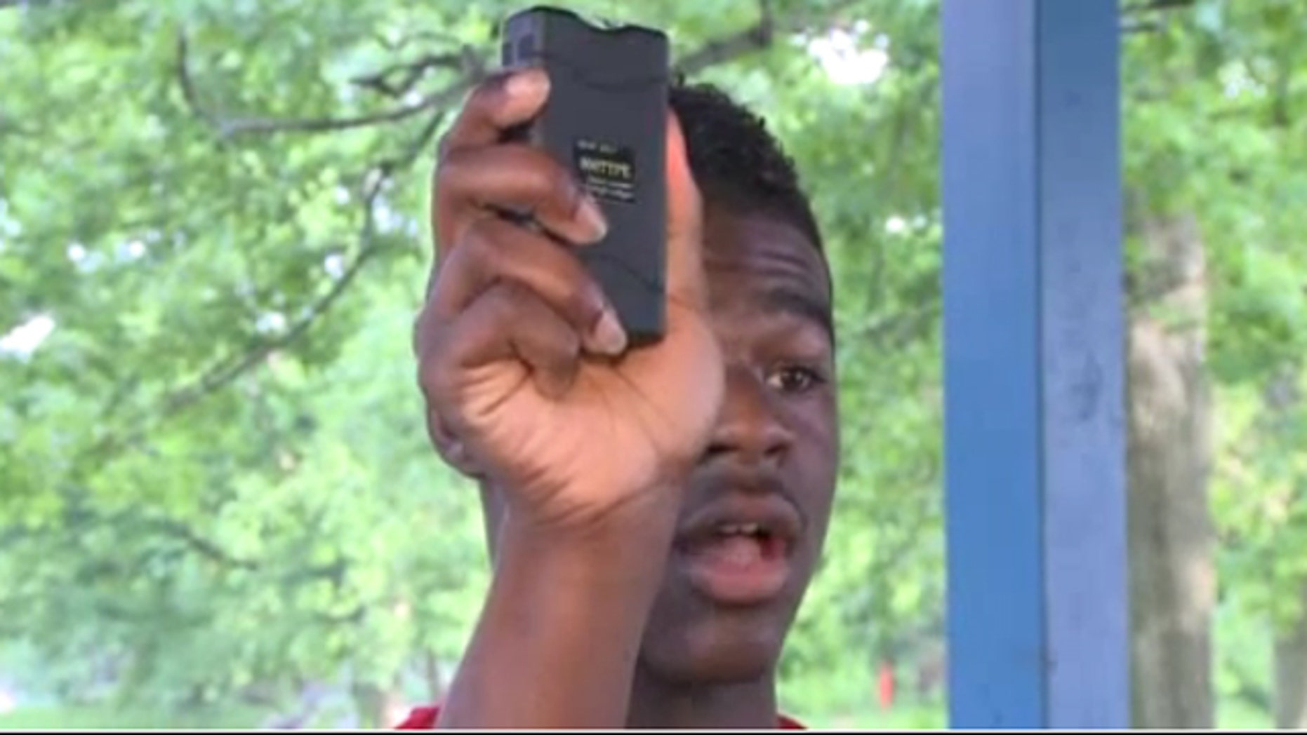 """I raised it up, and then I pushed the button twice,"" Darnell Young, 17, a student at Arsenal Tech High School in Indianapolis told Fox59.com."
