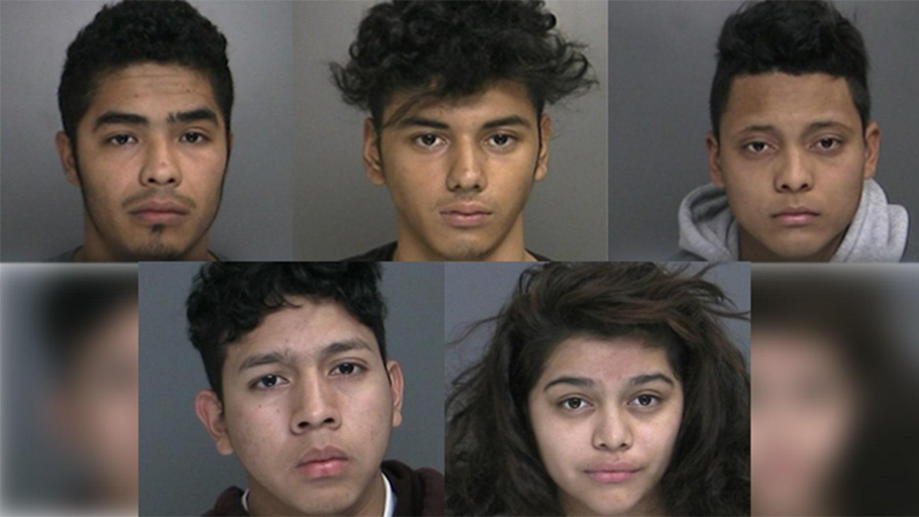 Miguel Rivera, Oscar Fuentes, Vidal Ortiz Contreras, Jorge Bermudez Cedillos and Lilliana Villanueva (Suffolk County Police Department)