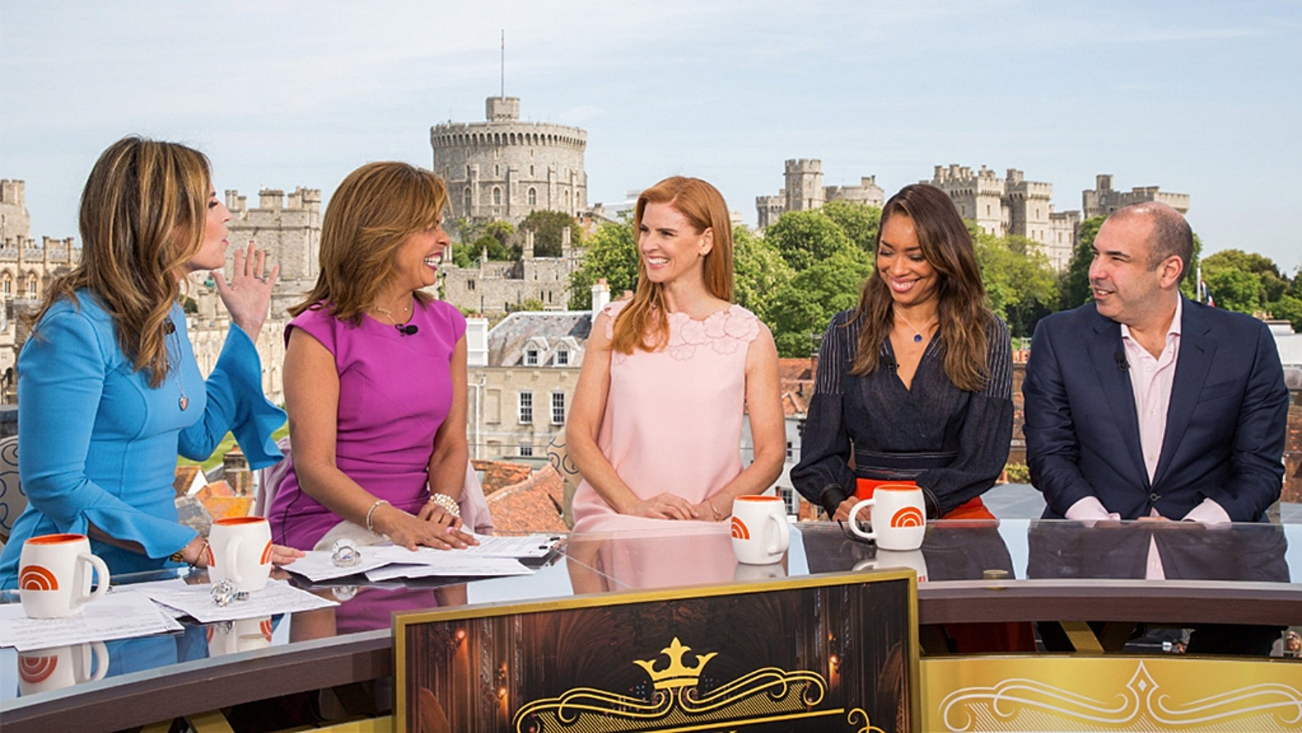 "Meghan Markle's former ""Suits"" cast members talk about the beginnings of Markle and Prince Harry's secret romance, say they were 'shocked' to be invited to the wedding on the ""Today"" show."