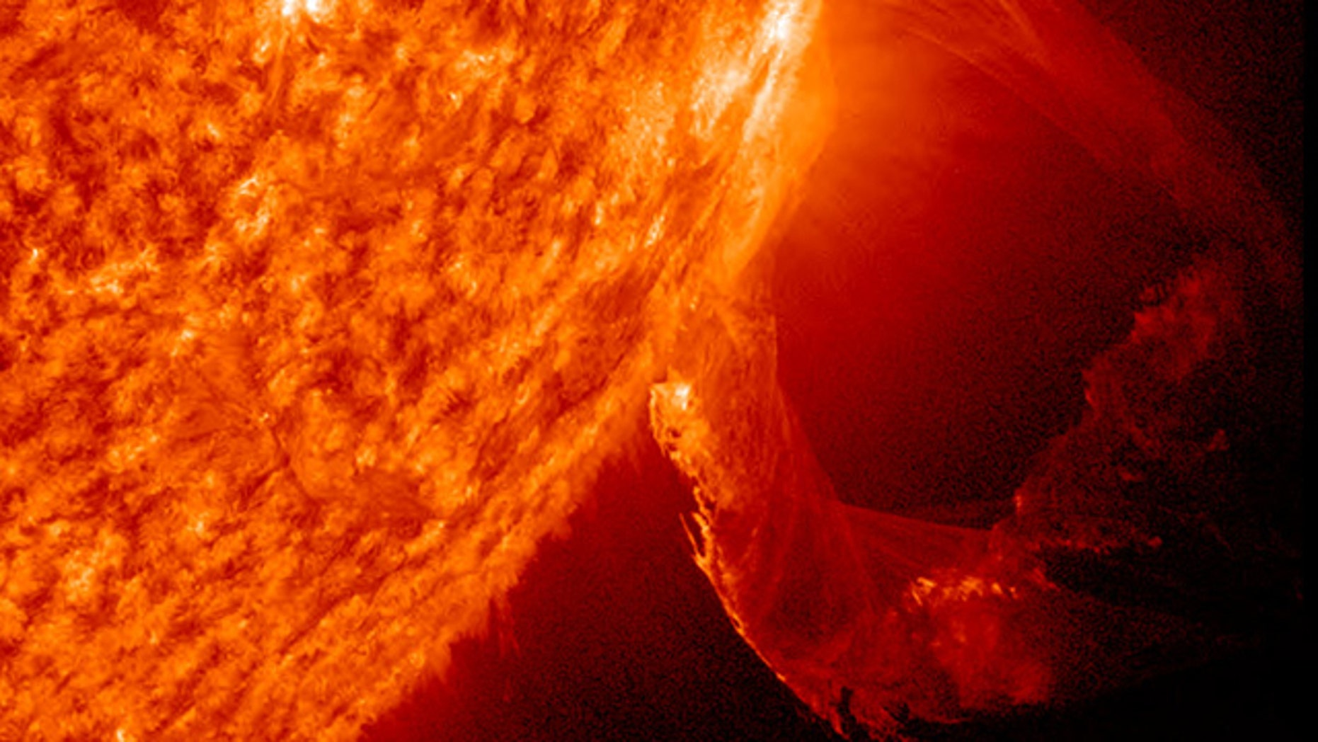March 19, 2011: The SDO satellite captured this solar eruption as a prominence became unstable and shot into space with a distinct twisting motion.