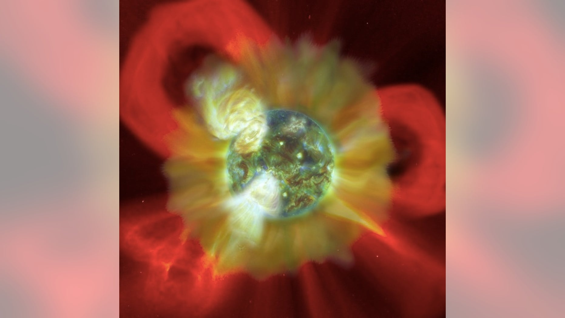"""The young Sun inundated the early Earth with """"superflares"""" of particles and radiation."""