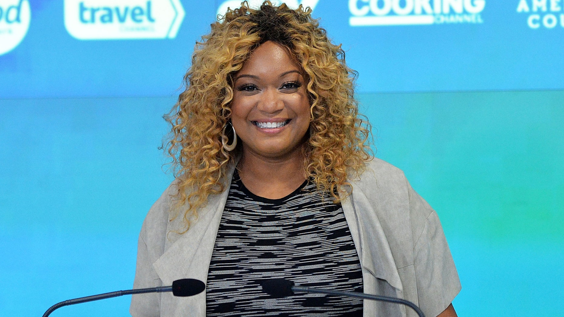 NEW YORK, NY - JUNE 02:  Food Network personality Sunny Anderson rings the NASDAQ Opening Bell at NASDAQ on June 2, 2016 in New York City.  (Photo by Slaven Vlasic/Getty Images)