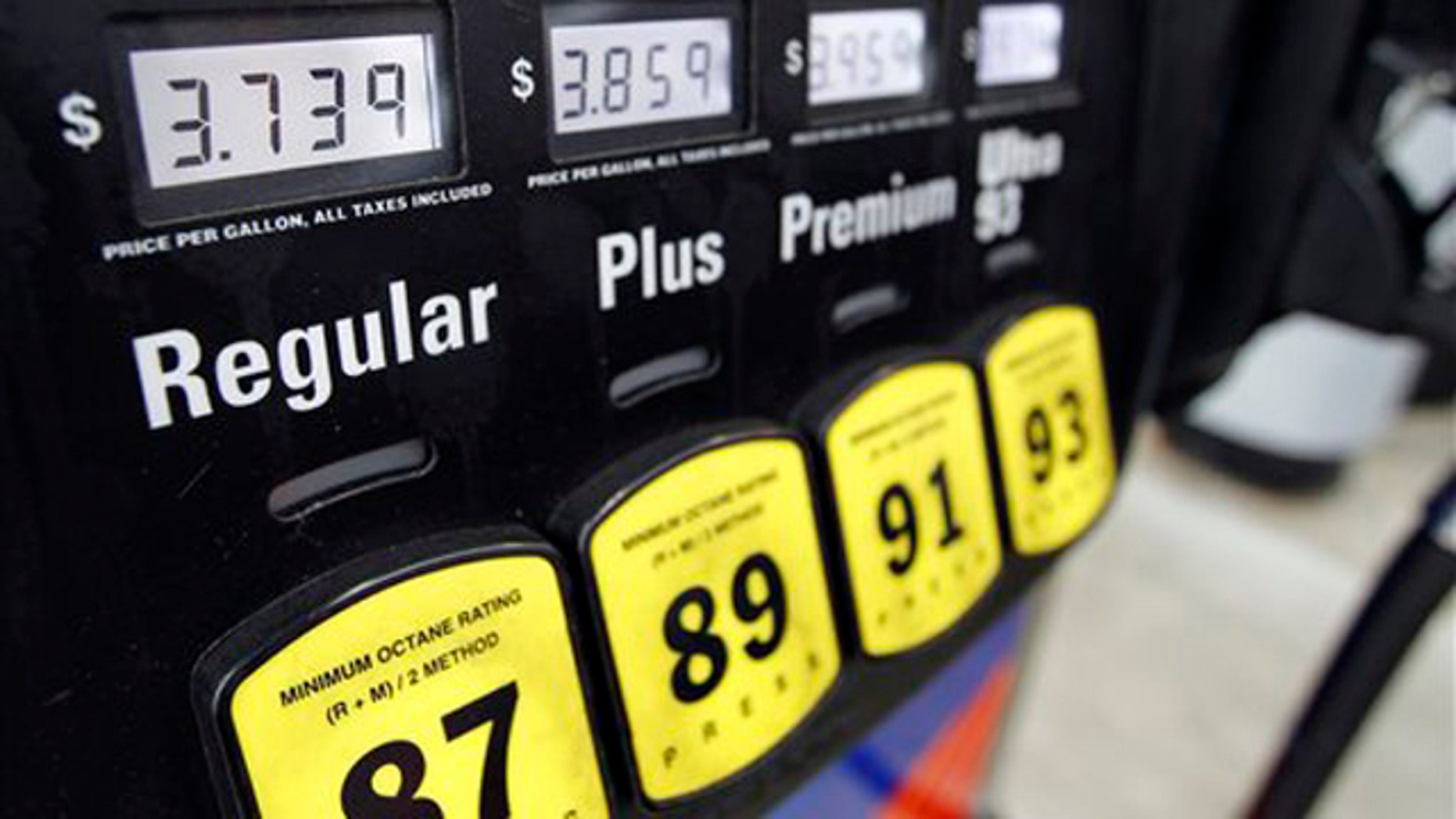 Feb. 24, 2012: Gas prices are posted at a Sunoco gas station in Philadelphia.