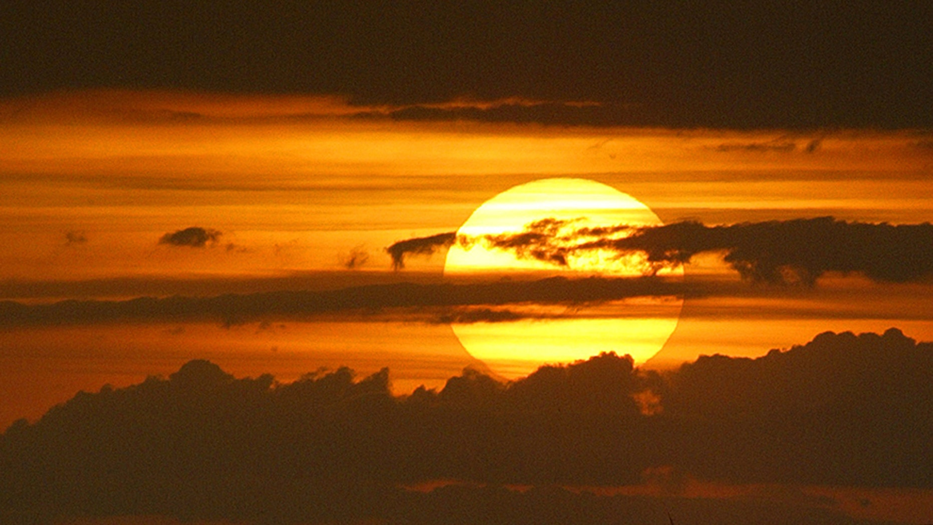 Sunset on Bali August 13, 2003