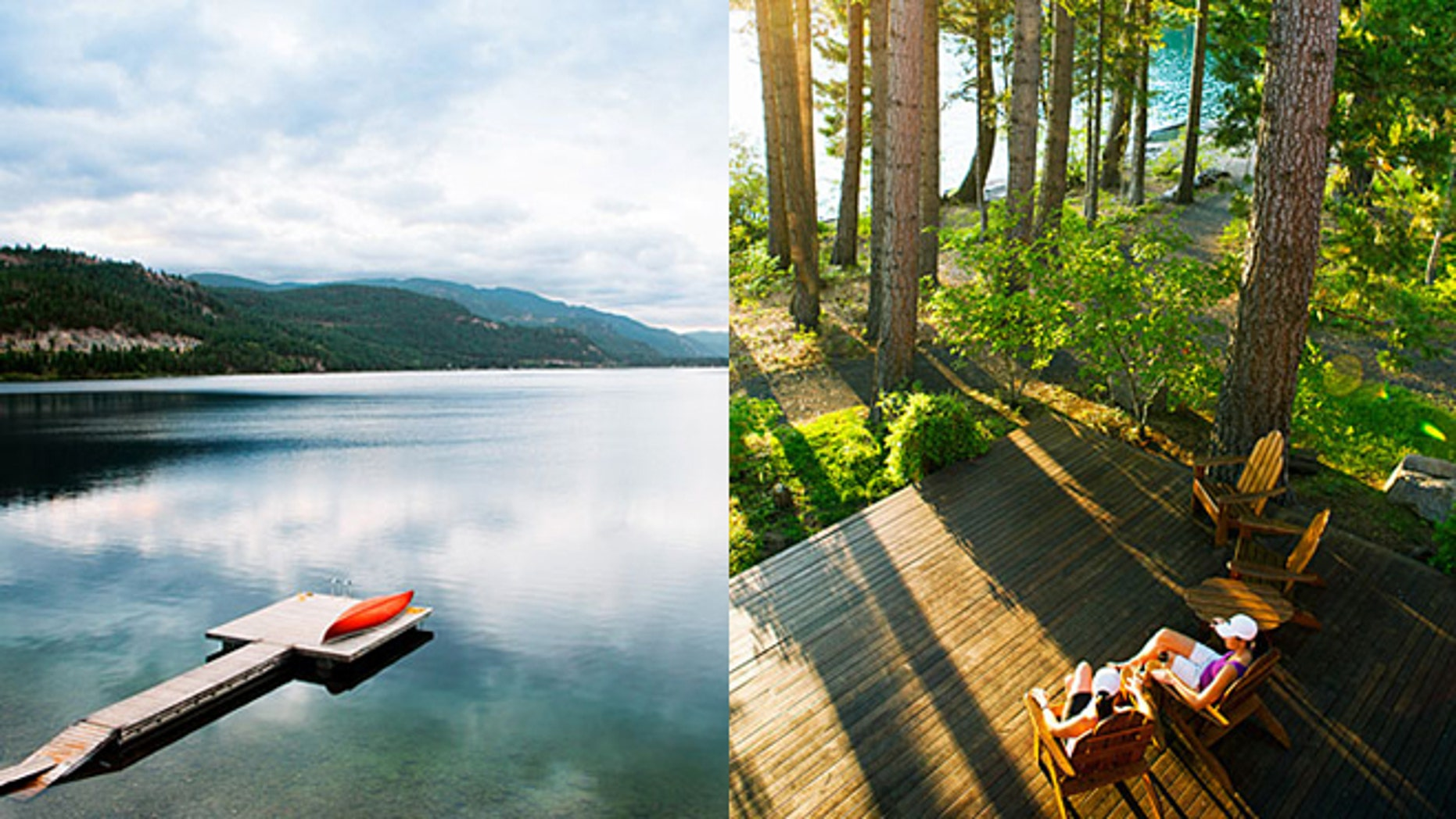 Christina Lake [left] and Suttle Lake