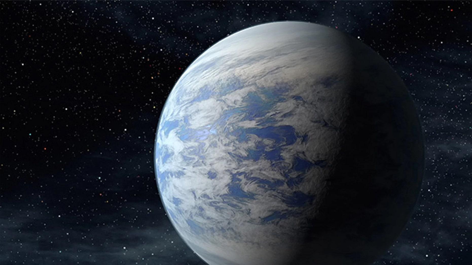 Artist's illustration of the super-Earth alien planet Kepler-69c. Credit: NASA