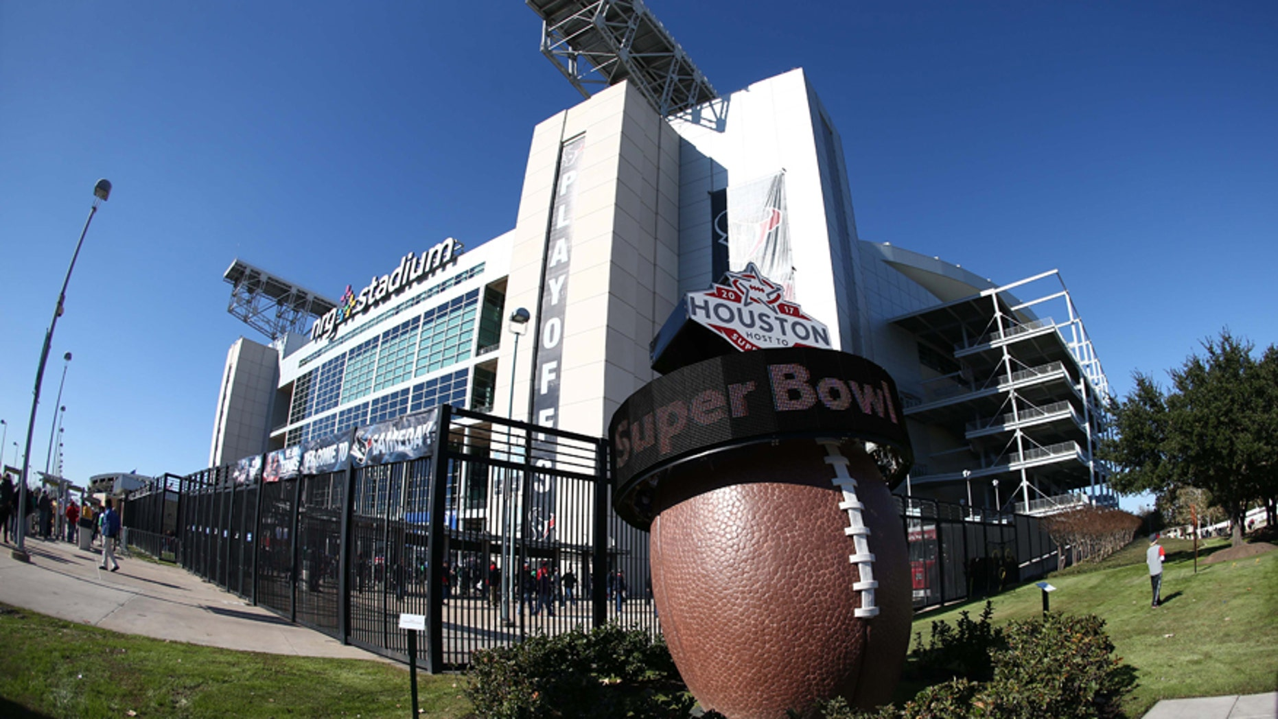 File photo - Jan 7, 2017; Houston, TX, USA; A countdown to Super Bowl LI scrolls outside of NRG Stadium before the AFC Wild Card playoff football game between the Houston Texans and the Oakland Raiders. (Mandatory Credit: Troy Taormina-USA TODAY Sports)