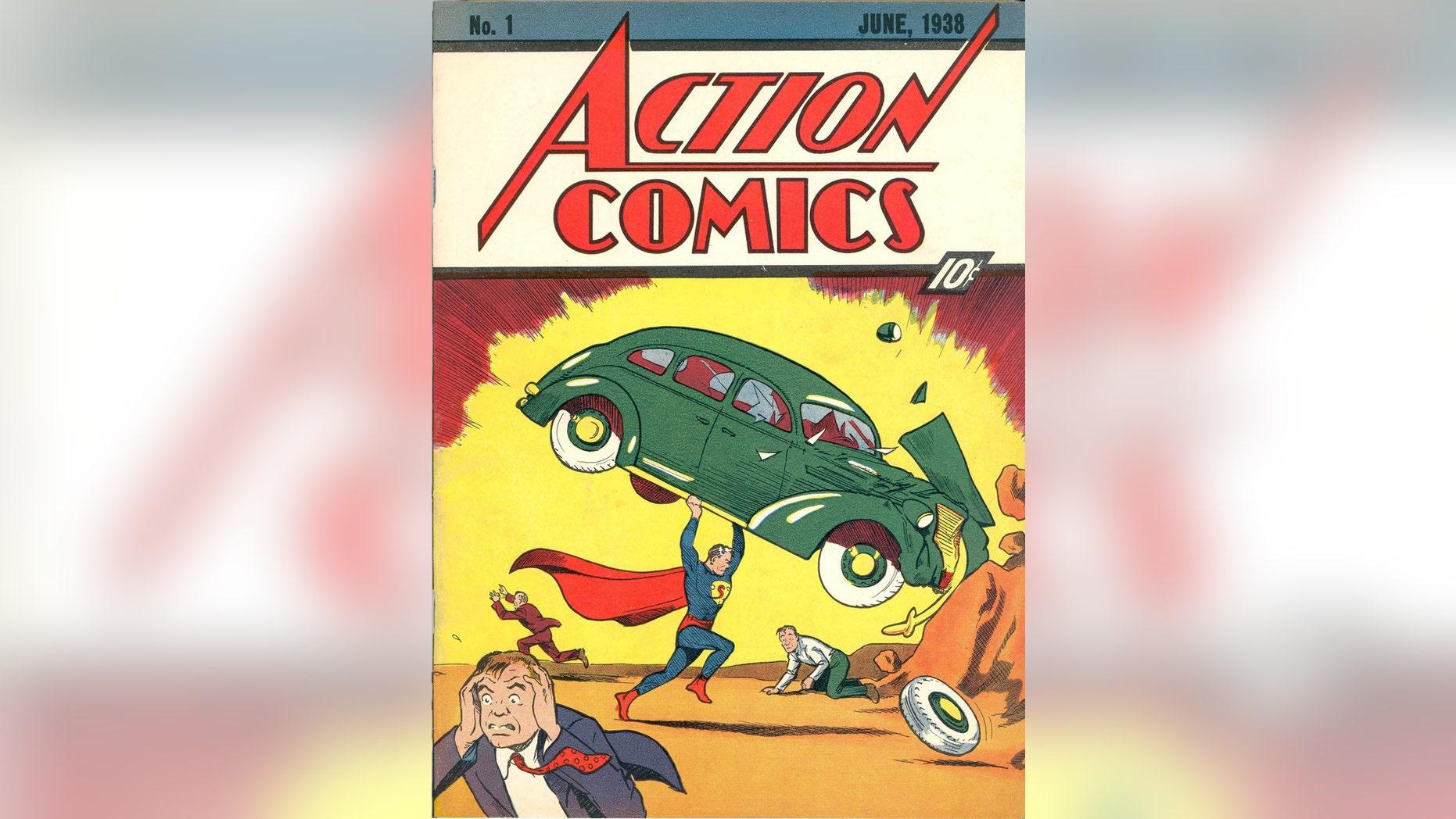 Superman debuts in Action Comics No. 1 in June 1938.