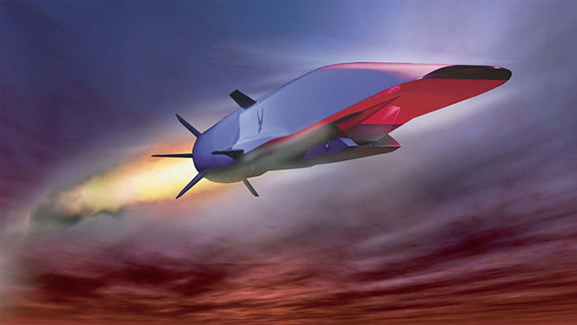 Artist's concept of the X-51A WaveRider during flight
