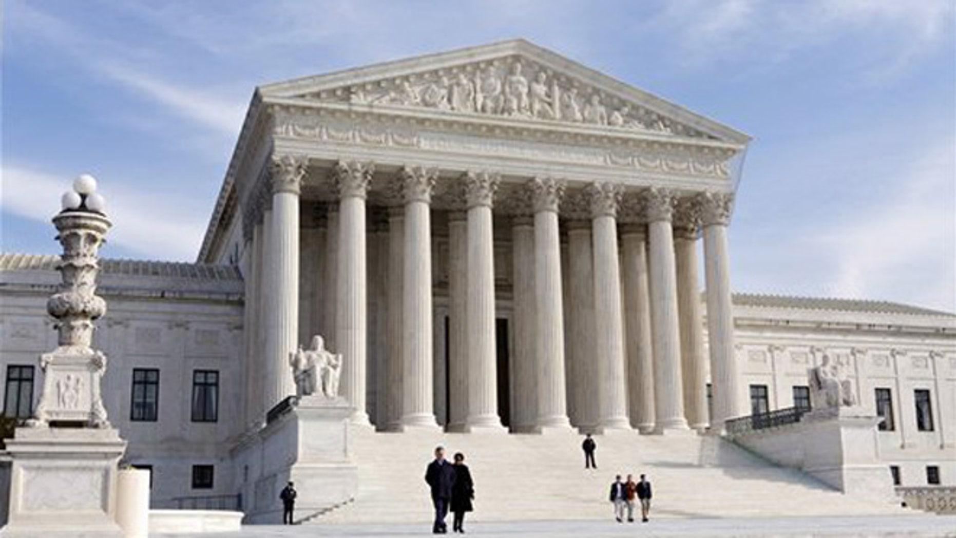 U.S. Supreme Court Building in Washington. (Associated Press)