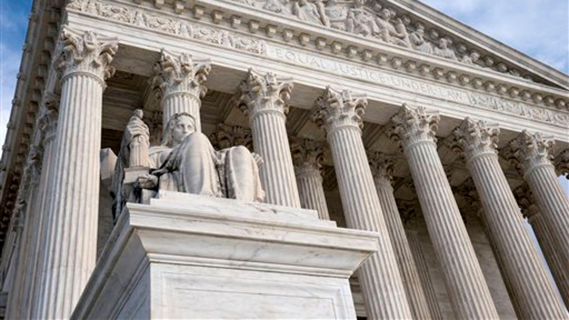 FILE: Feb. 17, 2016:  The Supreme Court building, in Washington, D.C. (AP)