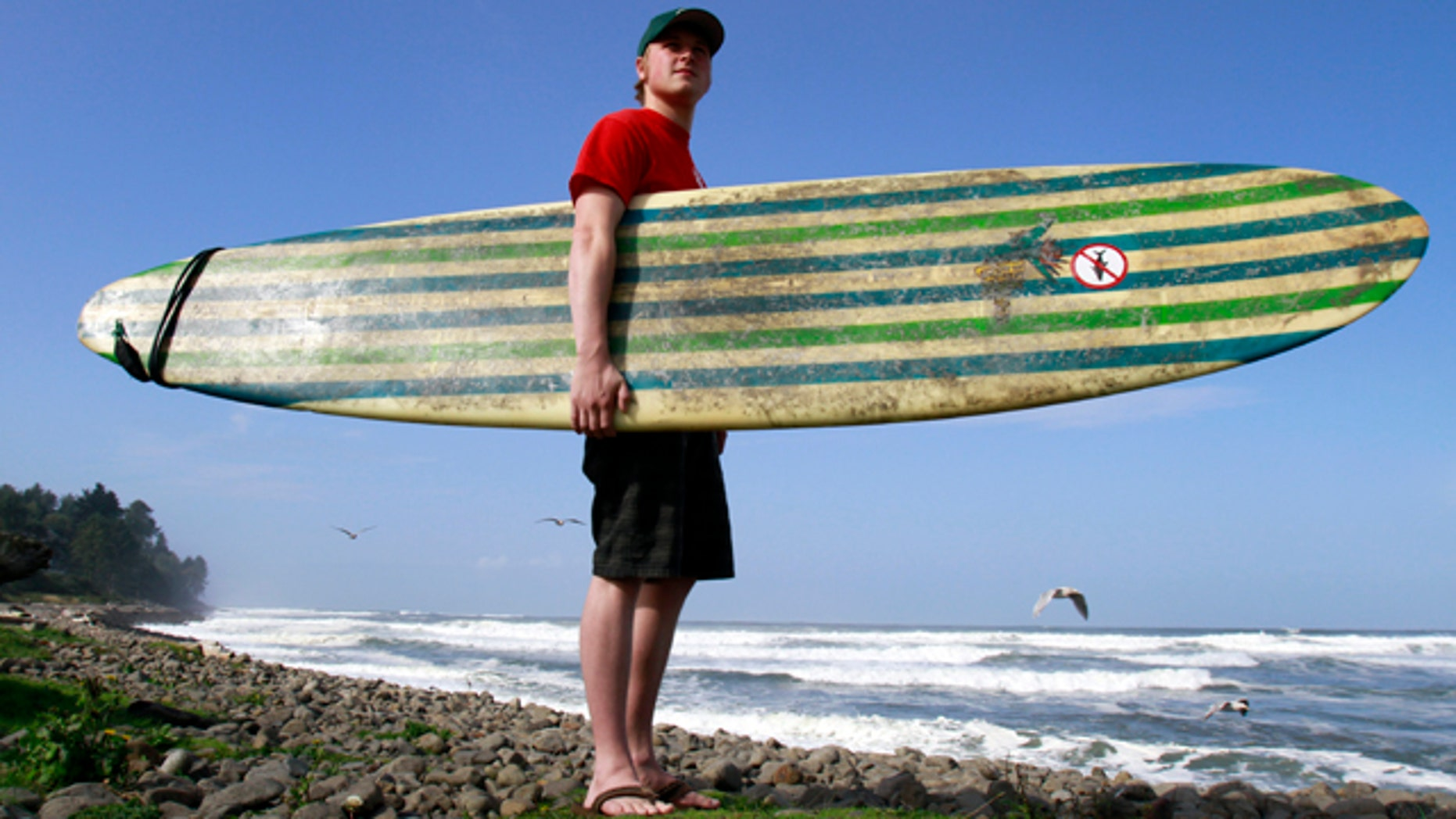 Oct. 12: Surfer Doug Niblack poses for a photo at a popular surfing site in Seaside, Ore.