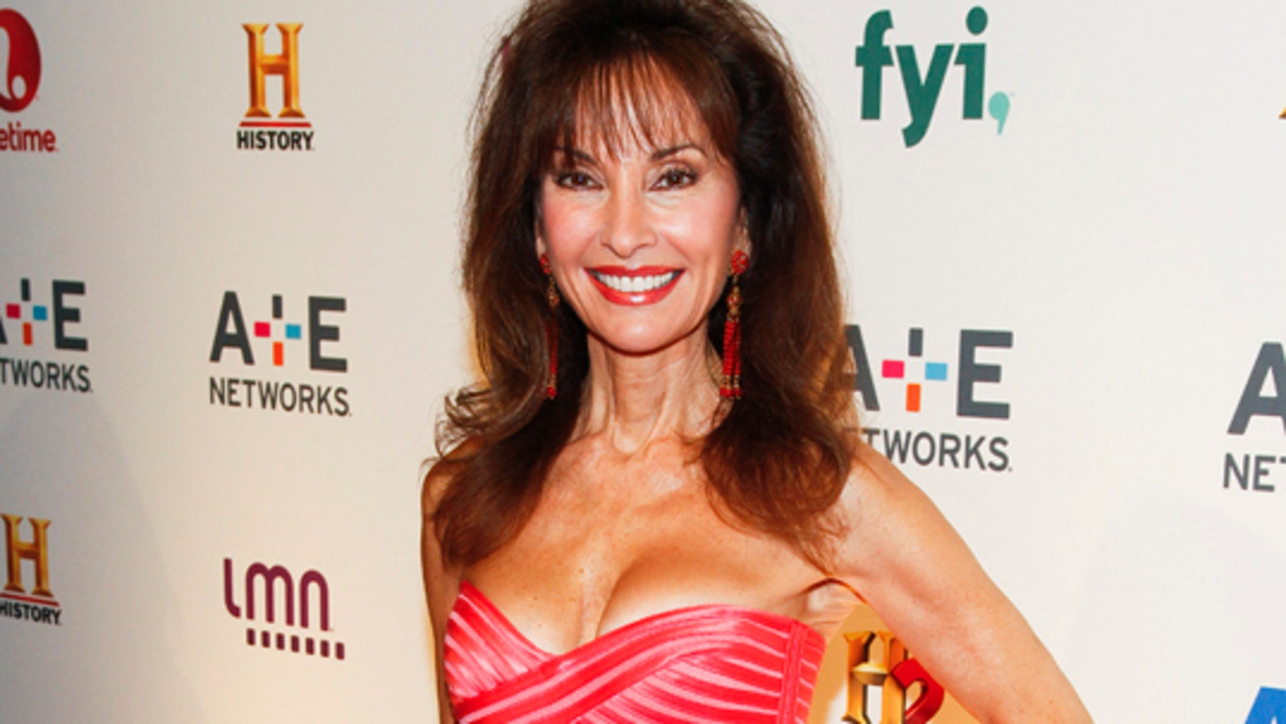 Susan Lucci attends the A+E Networks 2015 Upfront at the Park Avenue Armory on Thursday, April 30, 2015, in New York. (Photo by Andy Kropa/Invision/AP)