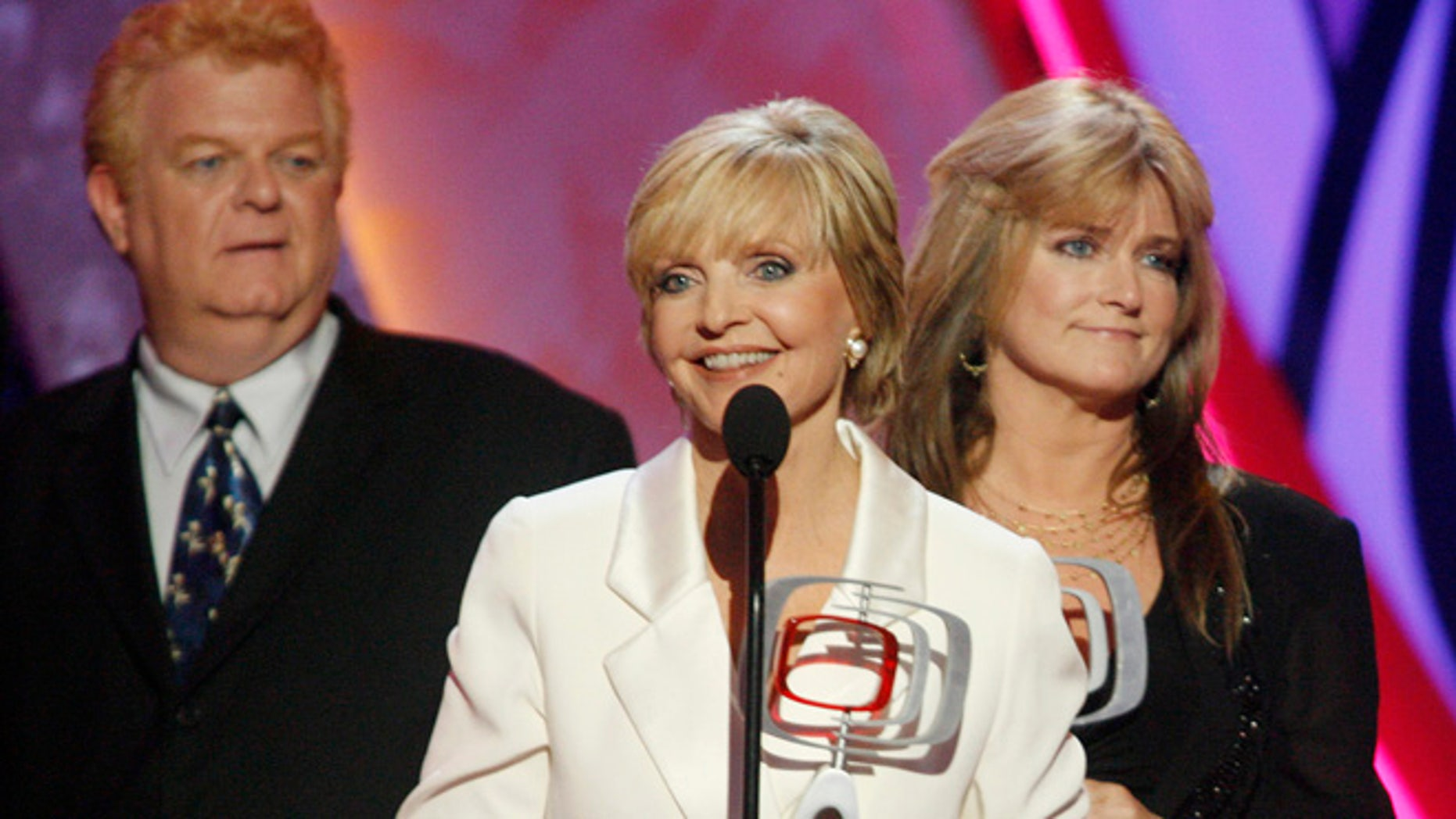 Susan Olsen (right) who played Cindy Brady says her TV mom Florence Henderson saved her life.