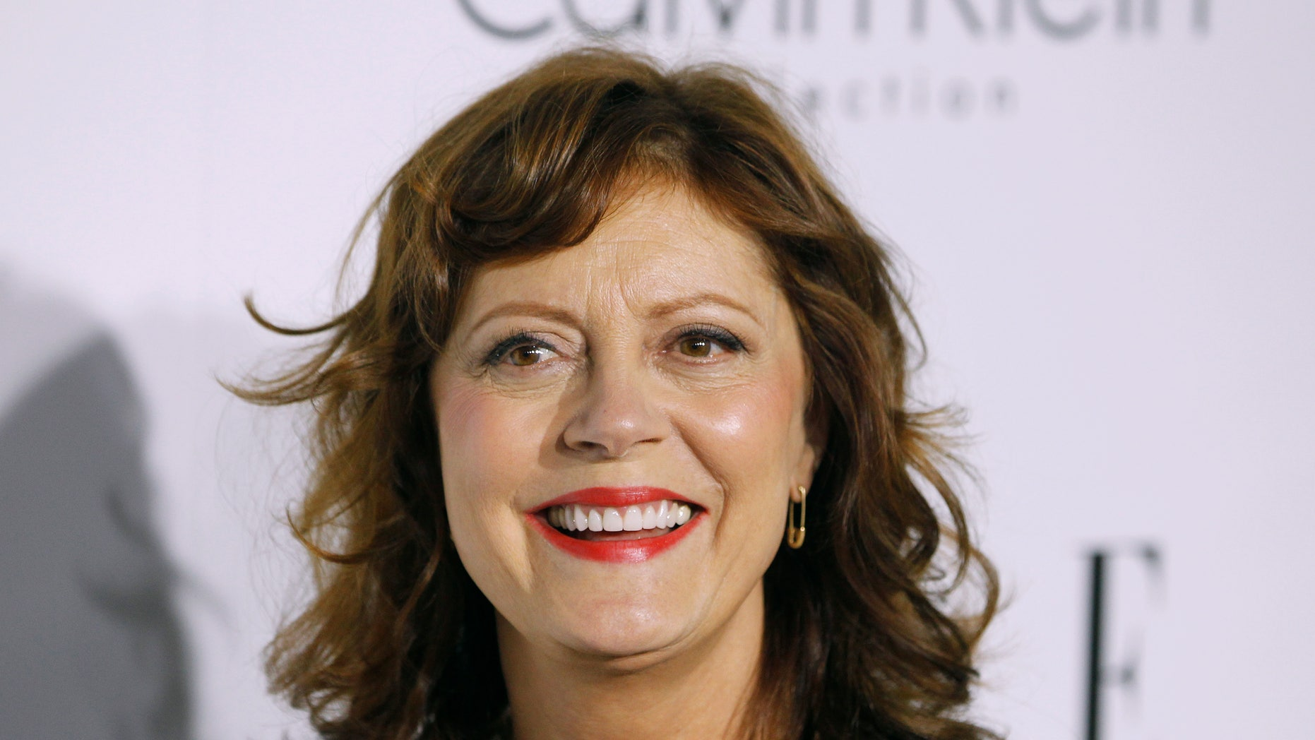 October 15, 2012. Honoree and Oscar winner Susan Sarandon poses as she arrives at the 19th Annual ELLE Women in Hollywood dinner in Beverly Hills, Callifornia.
