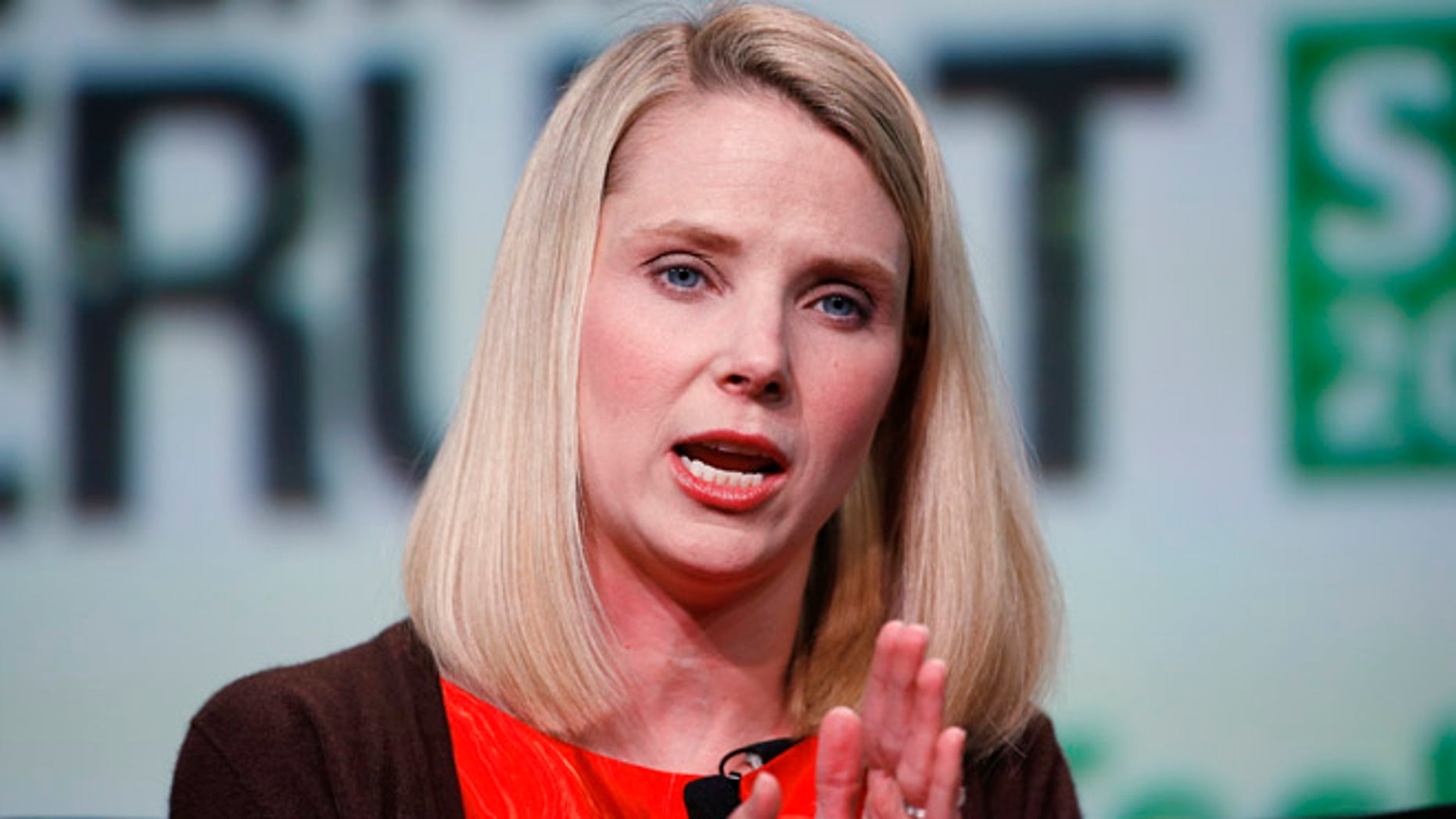 Marissa Mayer, President and CEO of Yahoo, in 2013 in San Francisco