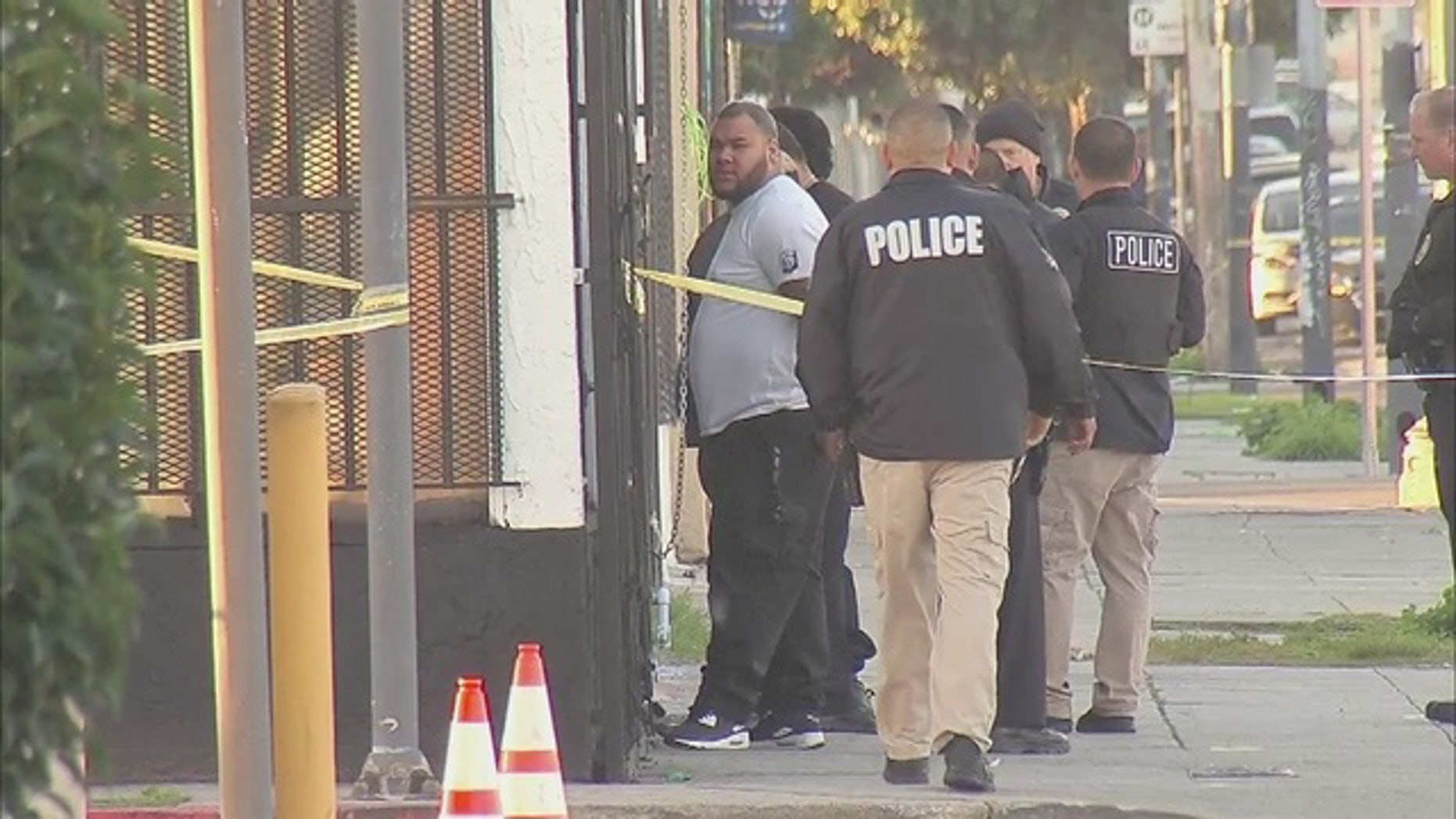 Three men were arrested after a standoff in a marijuana dispensary in Los Angeles.