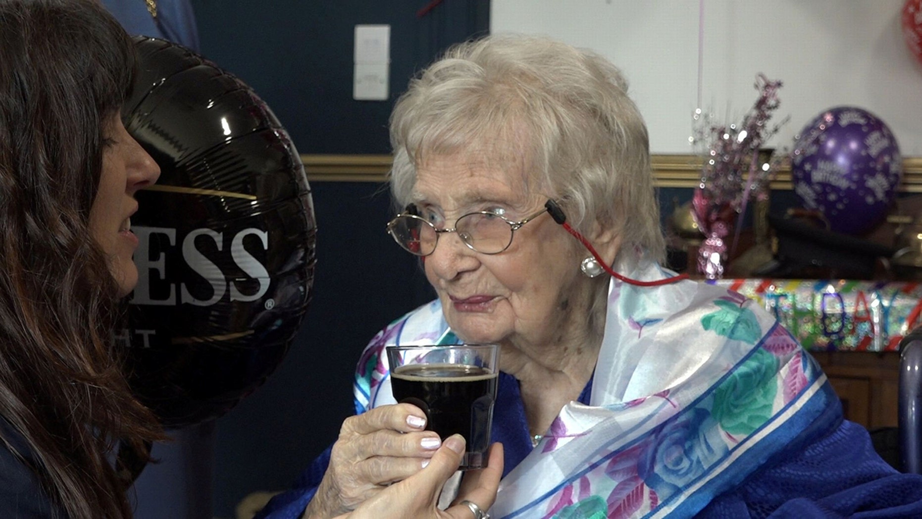 Doris Olive Netting swears by the popular Irish stout, and even had a Guinness-themed birthday.