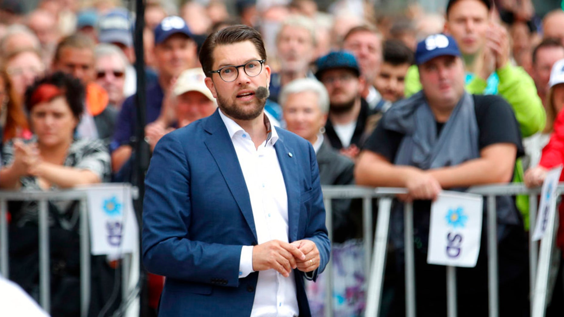 Jimme Akesson's Sweden Democrats is likely to be the big winner in Sunday's elections.