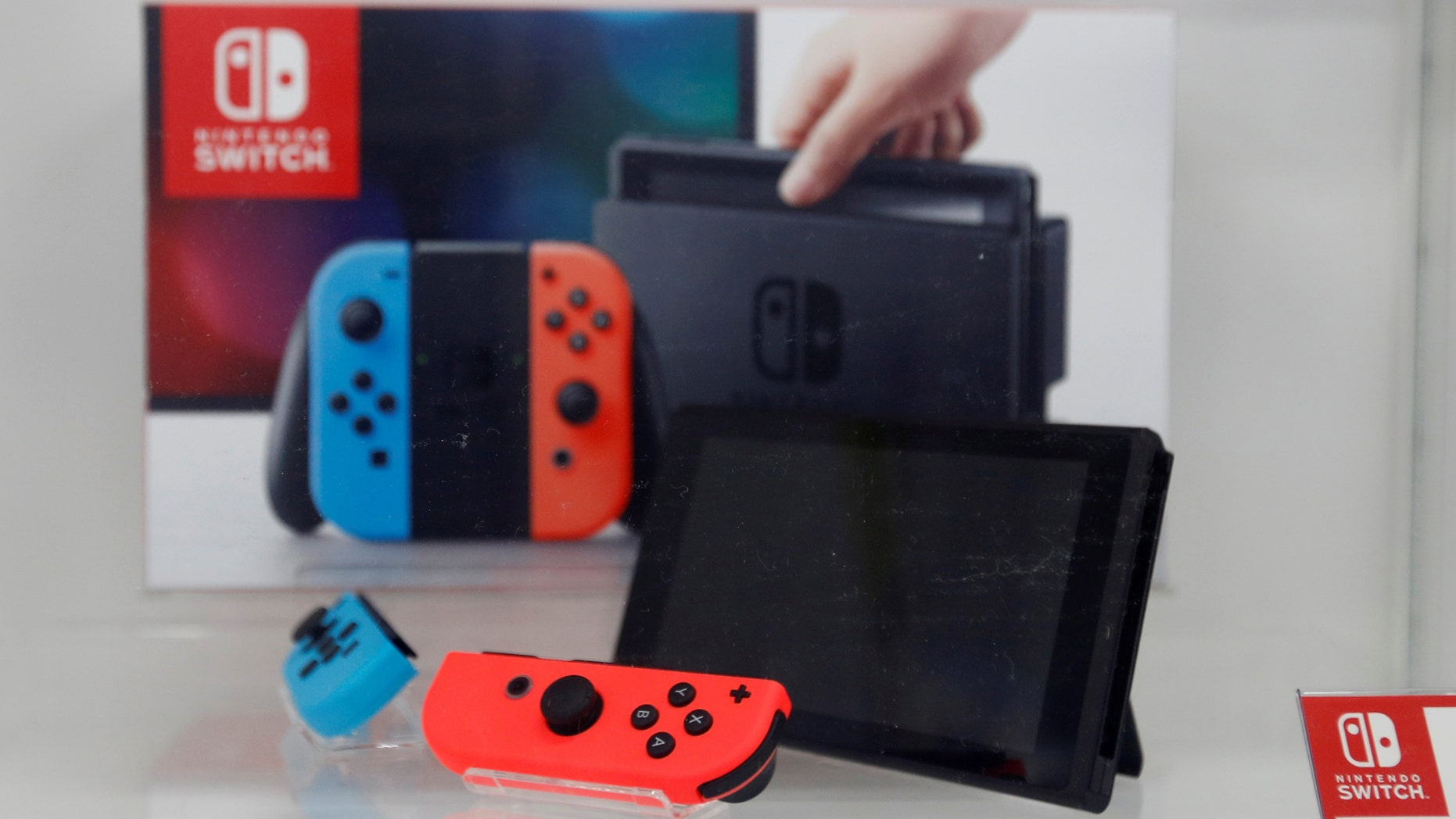 File photo: A Nintendo Switch diversion console is displayed during an wiring store in Tokyo, Japan Mar 3, 2017. (REUTERS/Toru Hanai)