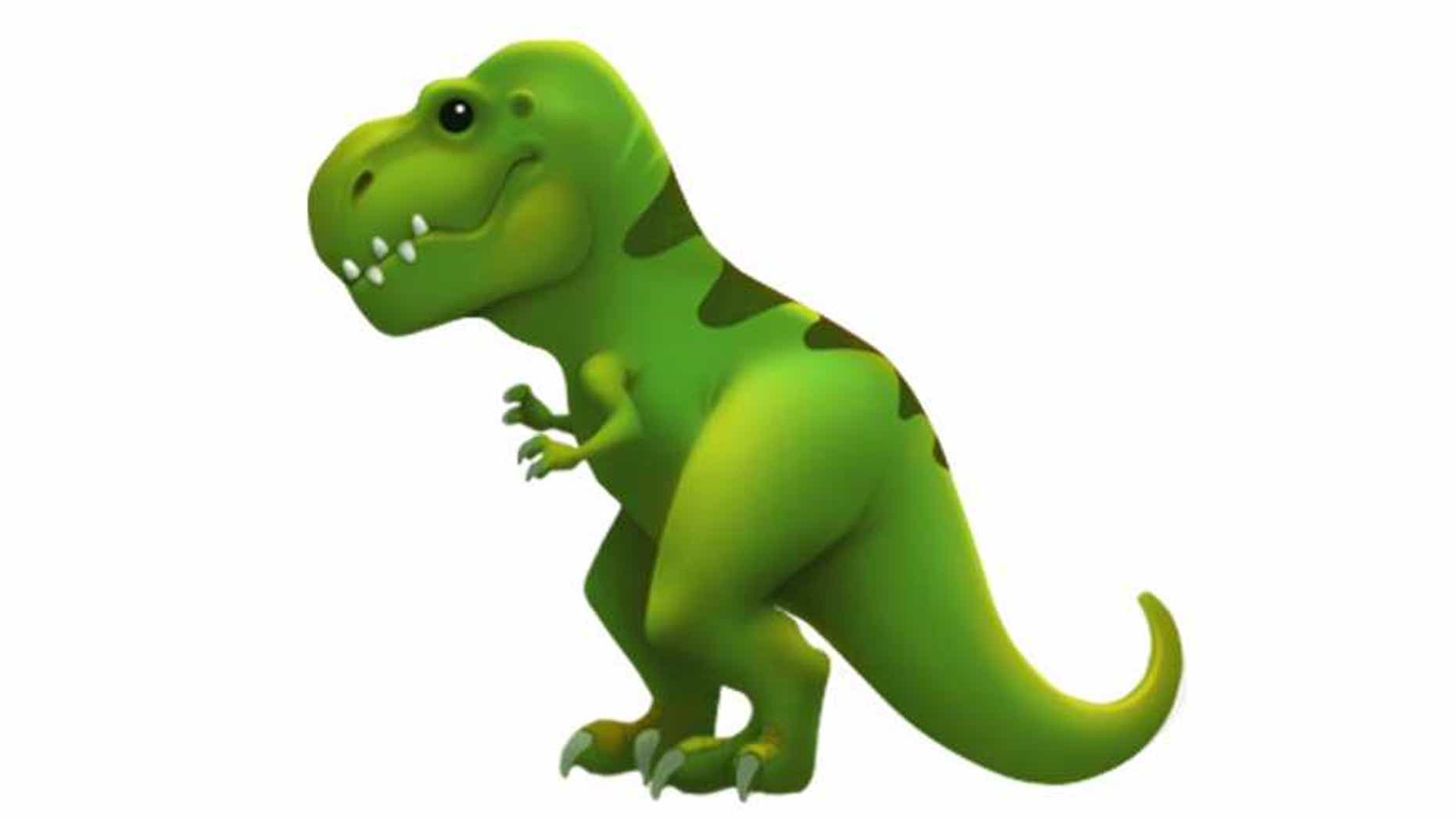 Apple is launching several new emoji soon, including one of a T. Rex. (Credit: Apple)