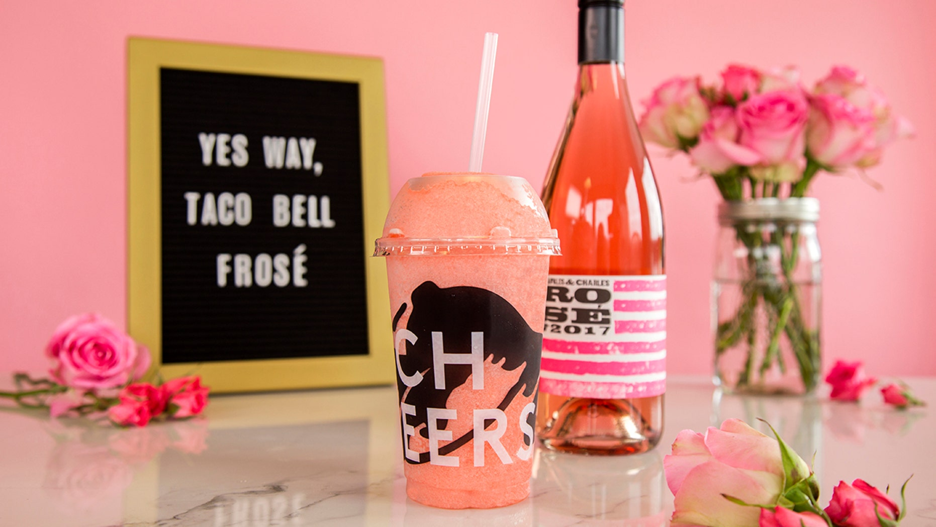 Taco Bell introduced its latest menu item, the Berry Frosé Twisted Freeze.