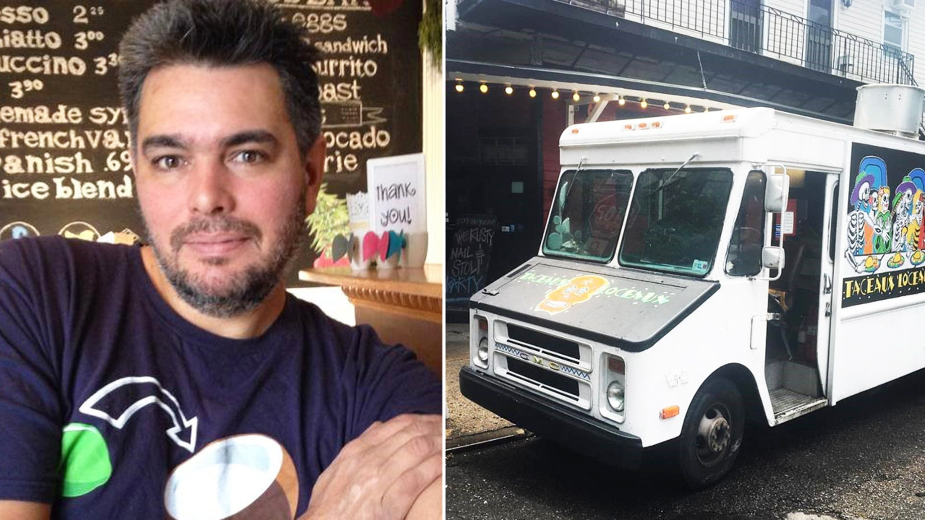 Alex Del Castillo, a former cook in the U.S. Navy, opened his own food truck Taceaux Loceaux in 2009.