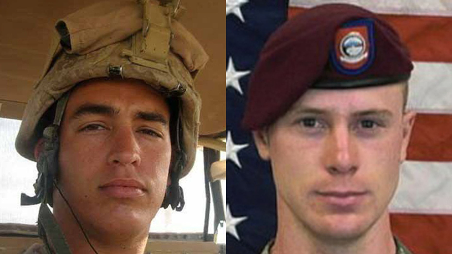 Supporters of Marine Sgt. Andrew Tahmooressi (l.), say the Obama administration has forgotten him while going to great lengths to free Army St. Bowe Bergdahl, (r.).