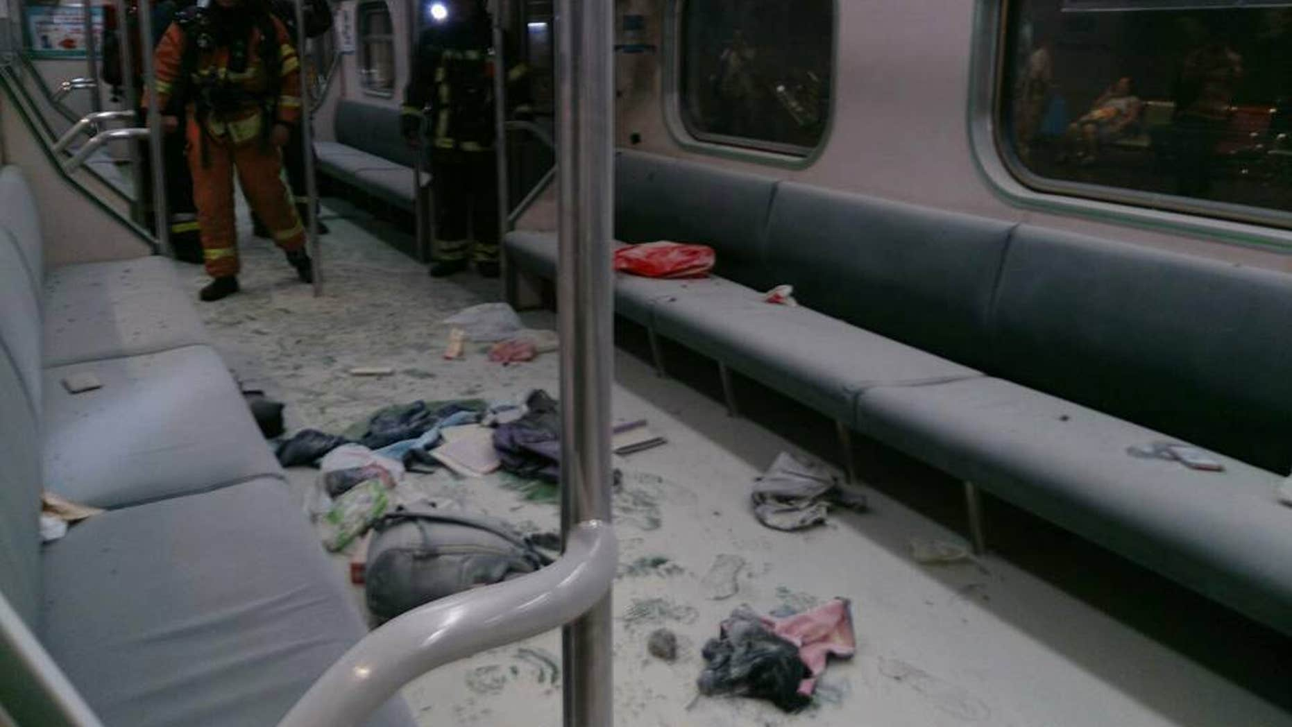July 7, 2016: An explosion on a train in Taipei is believed to have been caused by pre-made explosives, according to a local media report.