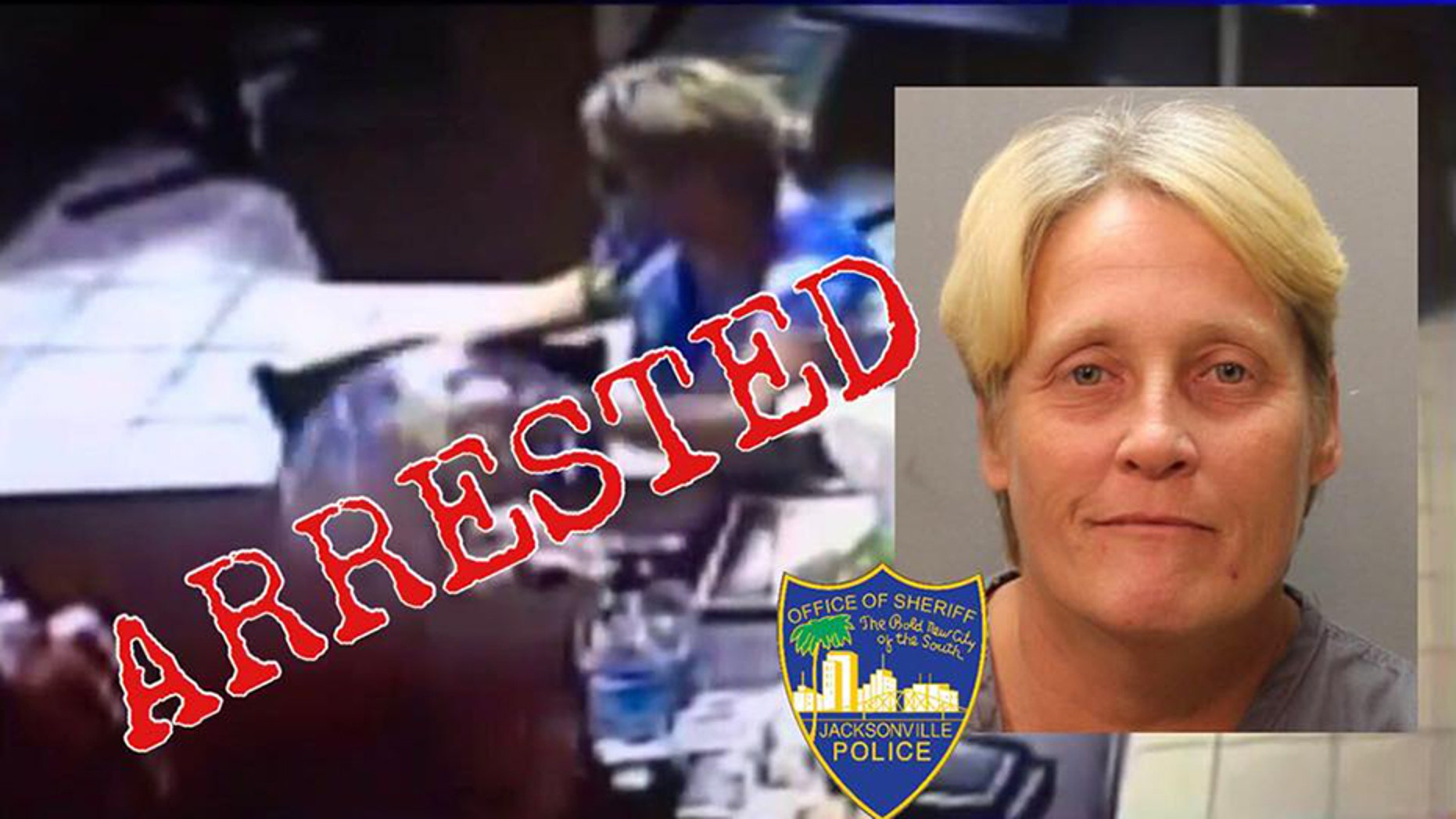 Mugshot for Tammy Wynnell Crews, 46, accused of stealing a donation jar from a restaurant meant for the family of slain 7-year-old girl.