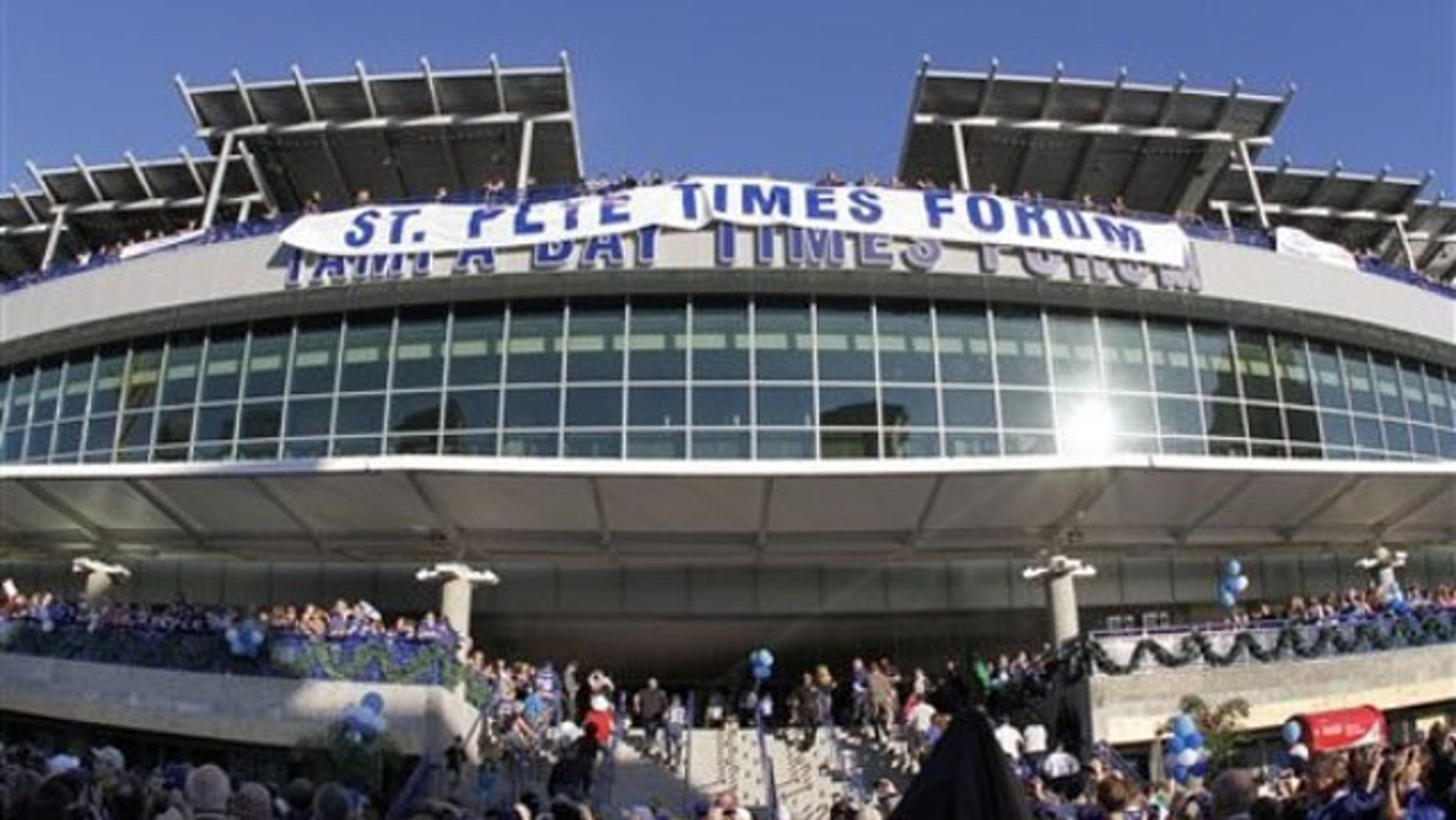 Dec. 31, 2011: Shown here is The Tampa Bay Times Forum, site of the Republican National Convention, in Tampa, Fla.