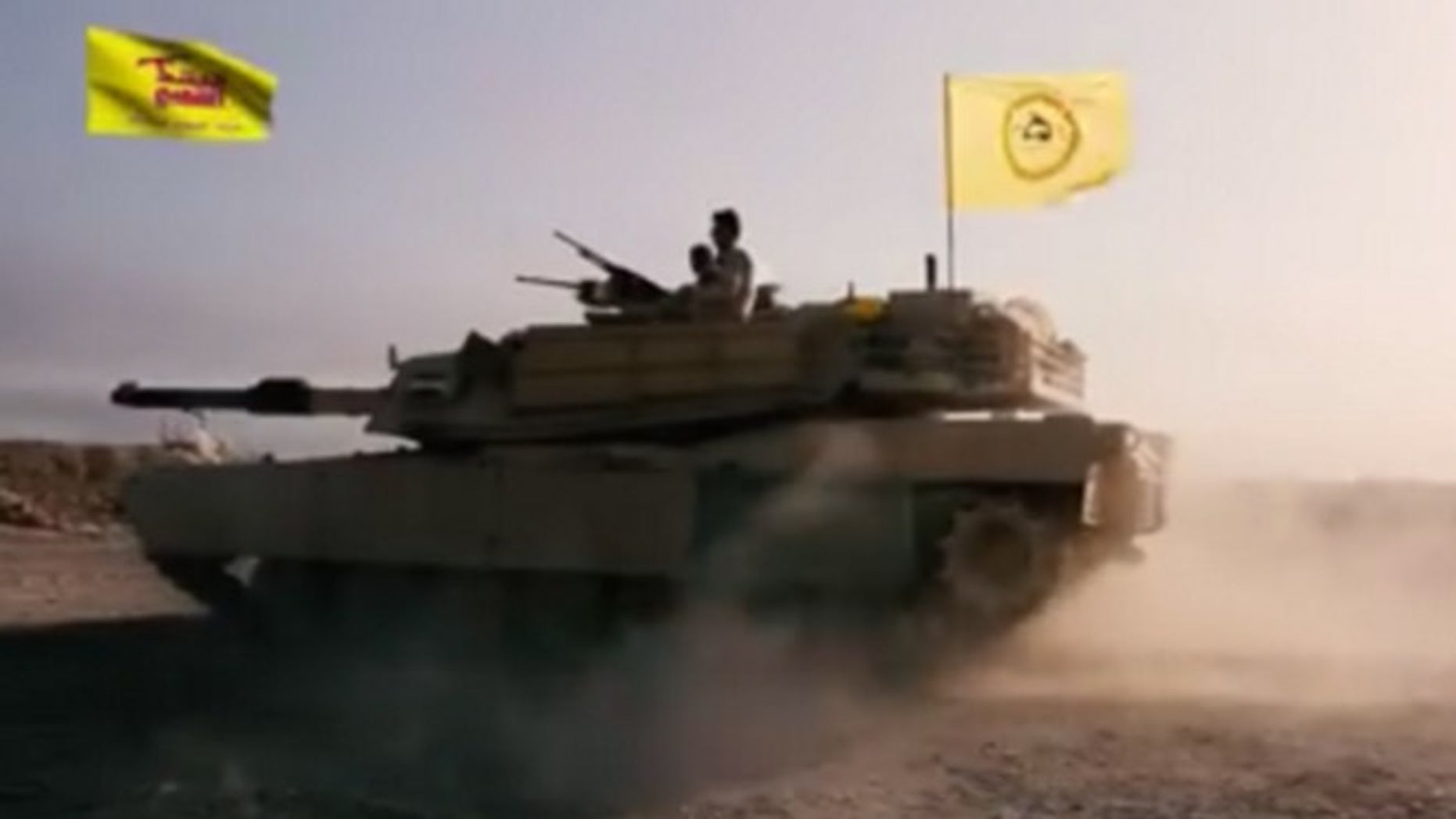 A video appeared online that purports to show a US-made M1 Abrams tank being used by an Iranian-back militia.