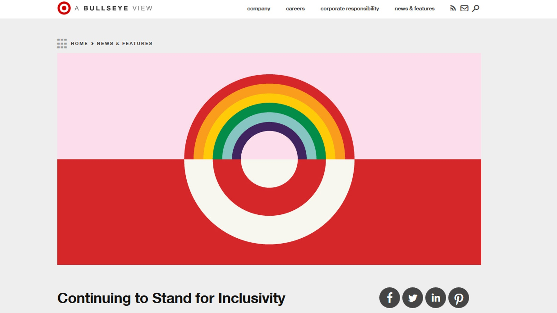 Target said its policy is not new, but is a restatement of corporate policy.