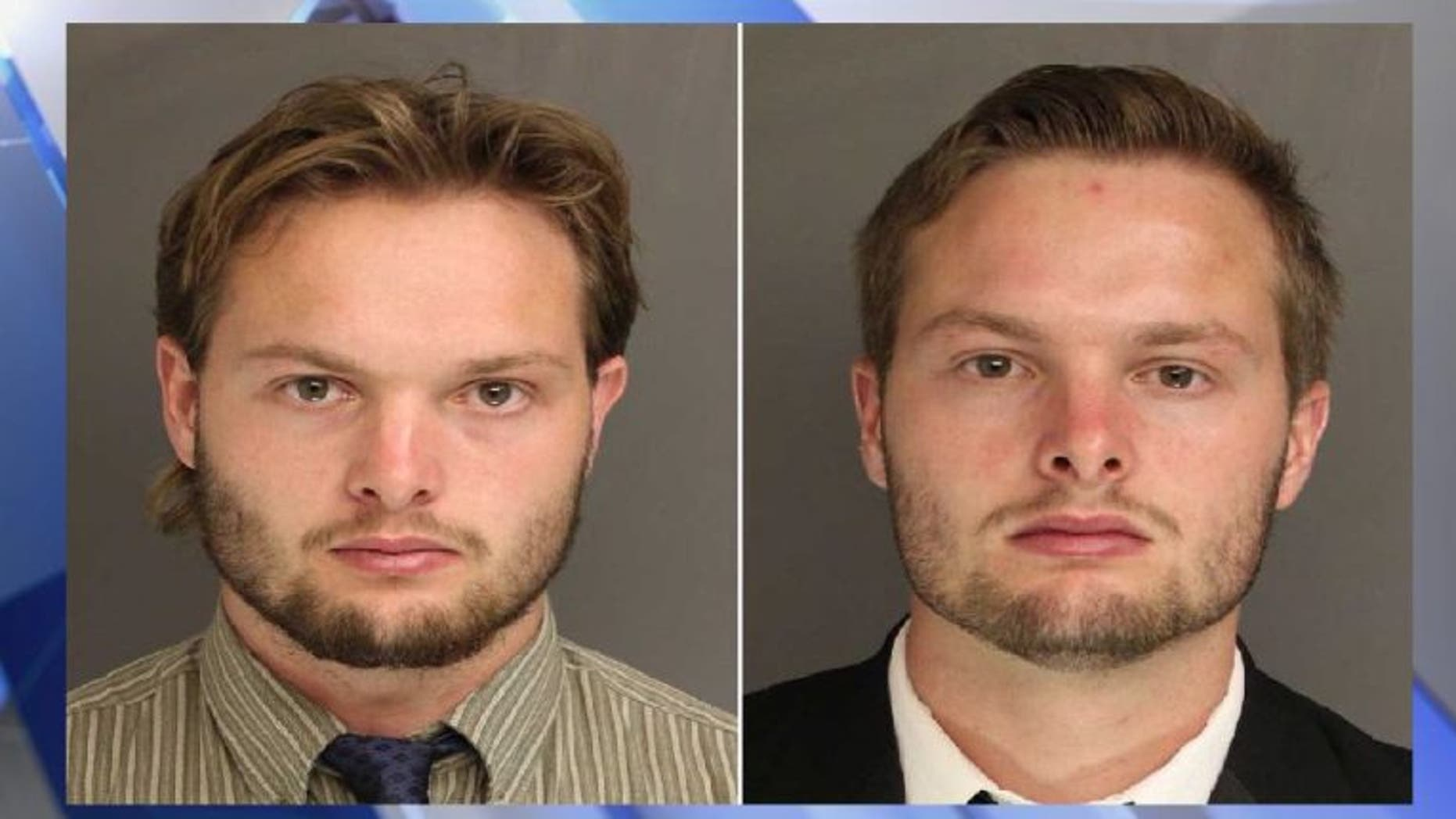 Caleb Tate, left, and Daniel Tate, right, are accused of building and blowing up IEDs.