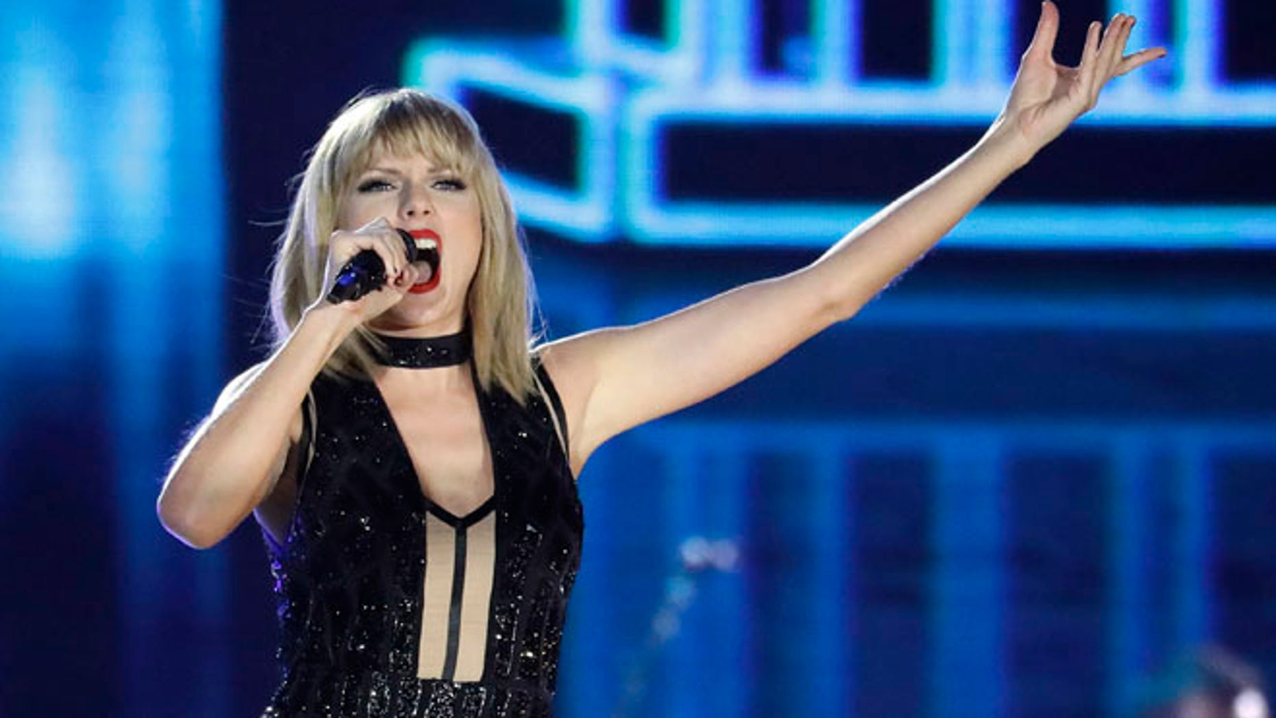 Taylor Swift performs on the eve of the Formula One U.S. Grand Prix race in Austin, Texas.