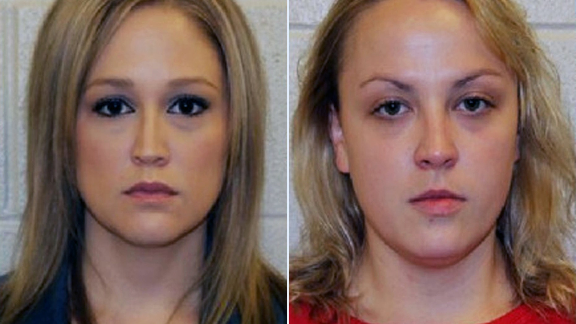 Shelley Dufresne, left, 32, and Rachel Respess, 24, were arrested after allegedly having a threesome with a student.