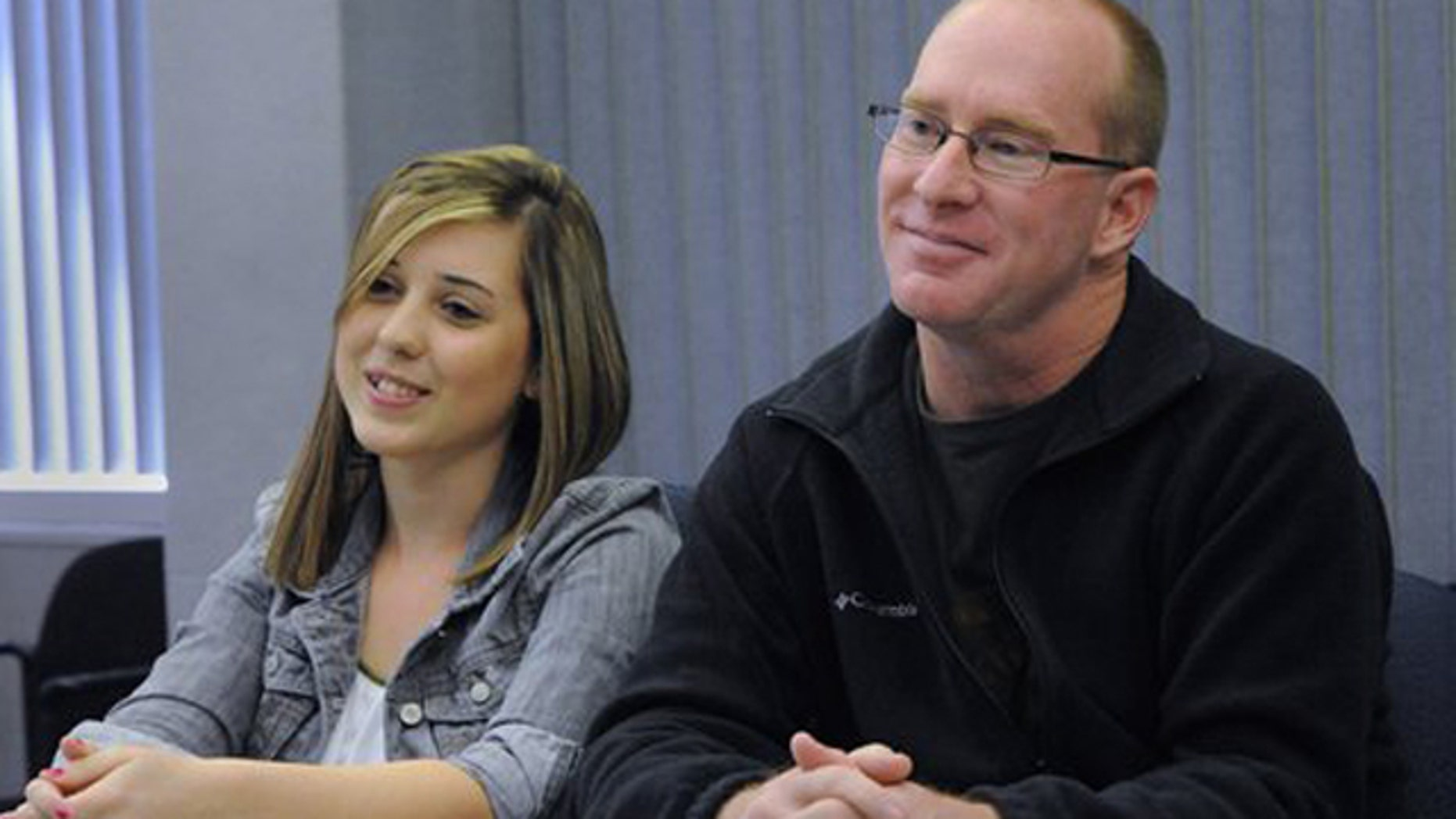 Feb. 28, 2012: Enochs High School student Jordan Powers, 18, and James Hooker, 41,  talk about their relationship during an interview in Modesto.