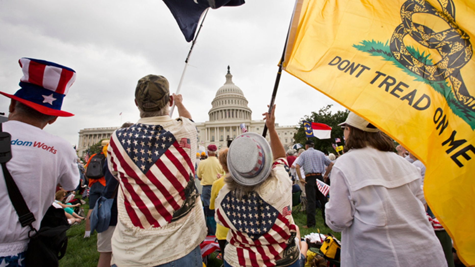 June 19, 2013: Tea Party activists attend a rally on the grounds of the Capitol in Washington.