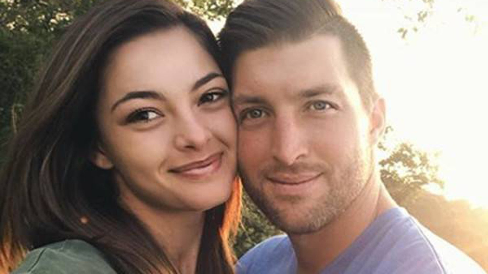 Tim Tebow and his new girlfriend Miss Universe Demi-Leigh Nel-Peters make their relationship official on Instagram.